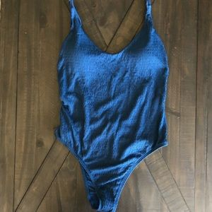 NWT aerie one-piece swum suit (navy)